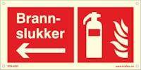 P-7070418119505 BRANNSLOKKER PIL VENSTRE - ETTERLYSENDE PVC