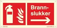 P-7070418120426 BRANNSLUKKER PIL HØYRE - ETTERLYSENDE PVC