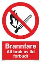 BRANNFARE ALL BRUK AV ILD - 300x450mm