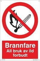 BRANNFARE ALL BRUK AV ILD - 400x600mm