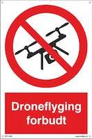 DRONEFLYGING FORBUDT - 300x450mm SKILT