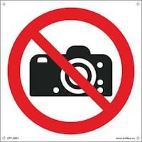 FOTOGRAFERING FORBUDT - 400x400mm