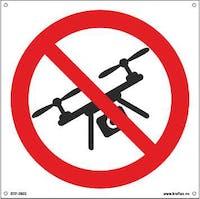 DRONEFLYGING FORBUDT - 400x400mm SKILT