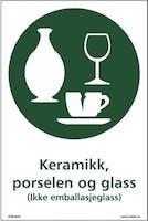 KERAMIKK, PORSELEN OG GLASS - SELVKLEBENDE FOLIE