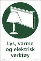 LYS, VARME OG ELEKTRISK - SELVKLEBENDE FOLIE