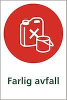 FARLIG AVFALL - SELVKLEBENDE FOLIE