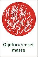 OLJEFORURENSET MASSE - SELVKLEBENDE FOLIE