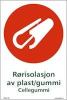 RØRISOLASJON AV PLAST/GUMMI - SELVKLEBENDE FOLIE