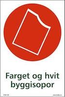 FARGET OG HVIT BYGGISOPOR - SELVKLEBENDE FOLIE