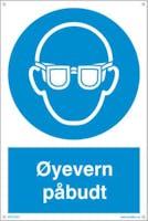 PÅBUDT MED ØYEVERN - 300x450mm