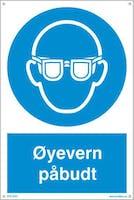 PÅBUDT MED ØYEVERN - 400x600mm
