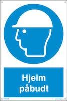 PÅBUDT MED HJELM - 300x450mm