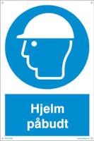 PÅBUDT MED HJELM - 200x300mm