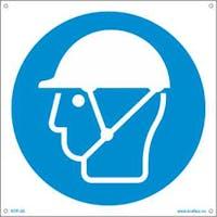 P-7070418119628 HJELM MED HAKESTROPP - HVIT PVC