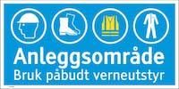 7070418107595 ANLEGGSOMRÅDE BRUK PÅBUDT - HVIT PVC