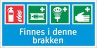 FINNES I DENNE BRAKKEN 333X666MM - HVIT PVC SKILT