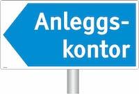 ANLEGGSKONTOR PIL VENSTRE - ALUMINIUM KOMPOSITT SKILT