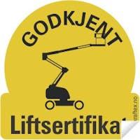 LIFTSERTIFIKAT /50  STK - HJELM KLISTREMERKE
