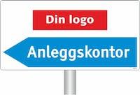 ANLEGGSKONTOR - LOGO PIL VENSTRE SKILT