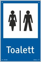 TOALETT DAME/HERRE - HVIT PVC