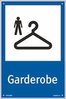 GARDEROBE MANN - HVIT PVC