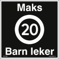 MAKS 20 KM/T, BARN LEKER