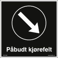 P-7070418109186 PÅBUDT KJØREFELT