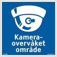 SKILT KAMERAOVERVÅKET, KUPPEL - ALUMINIUM KOMPOSITT SKILT