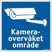 KAMERAOVERVÅKET - ALUMINIUM KOMPOSITT SKILT