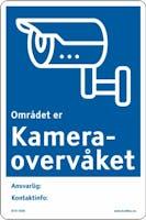 KAMERA-OVERVÅKET ANSVARLIG ... - ALUMINIUM KOMPOSITT SKILT