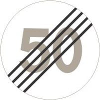 364.50 MS SLUTT PÅ SÆRSKILT FARTSGRENSE 50 - ALUMINIUM KL1 REFLEKS