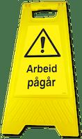 GATEBUKK ARBEID PÅGÅR - SOLID HARDPLAST