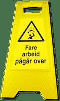 GATEBUKK FARE ARBEID PÅGÅR OVER - SOLID HARDPLAST