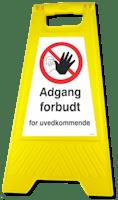 GATEBUKK ADGANG FORBUDT - SOLID HARDPLAST