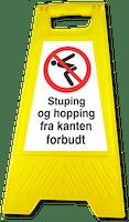 GATEBUKK STUPING HOPPING FRA KANTEN FORBUDT - SOLID HARDPLAST