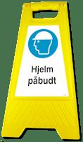 GATEBUKK HJELM PÅBUDT - SOLID HARDPLAST